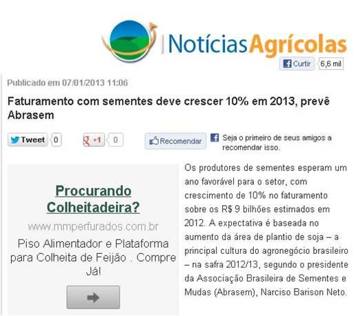 Matéria - Notícias agrícolas