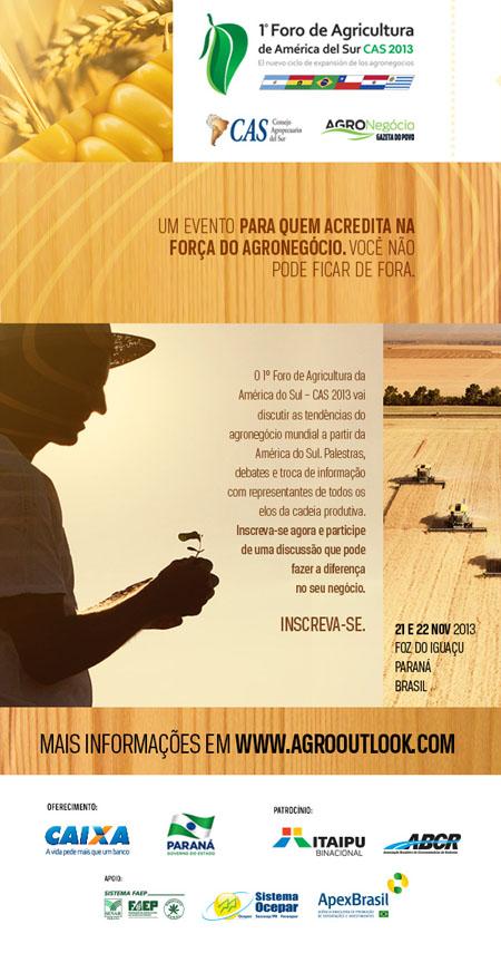 1º Foro de Agricultura de América del Sur CAS 2013