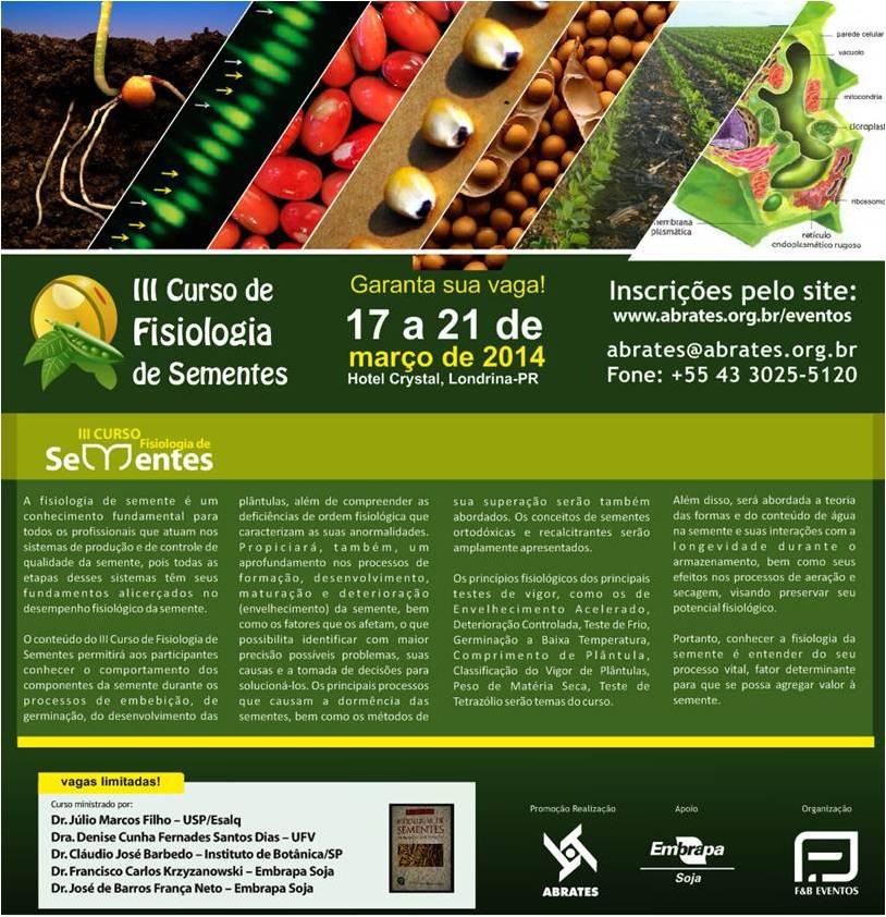 III Curso de Fisiologia de Sementes - banner