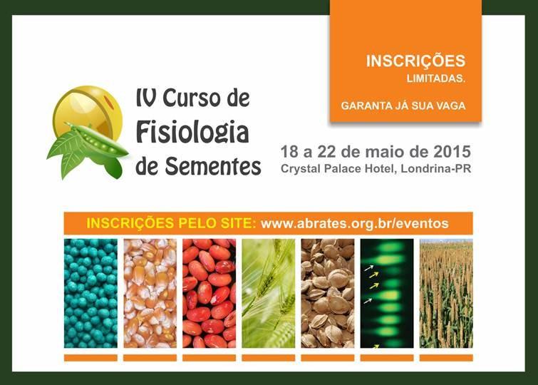 Curso de Fisiologia de Sementes  - Inscrições