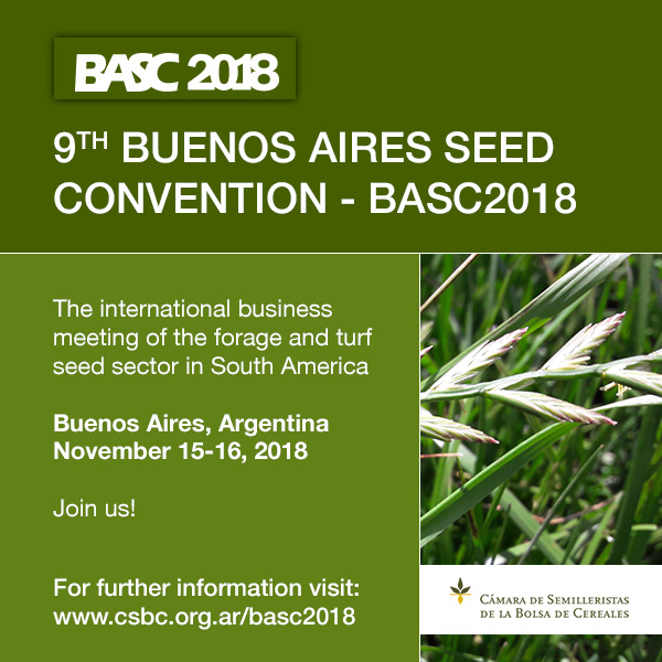 BUENOS AIRES SEED CONVENTION – BASC2018