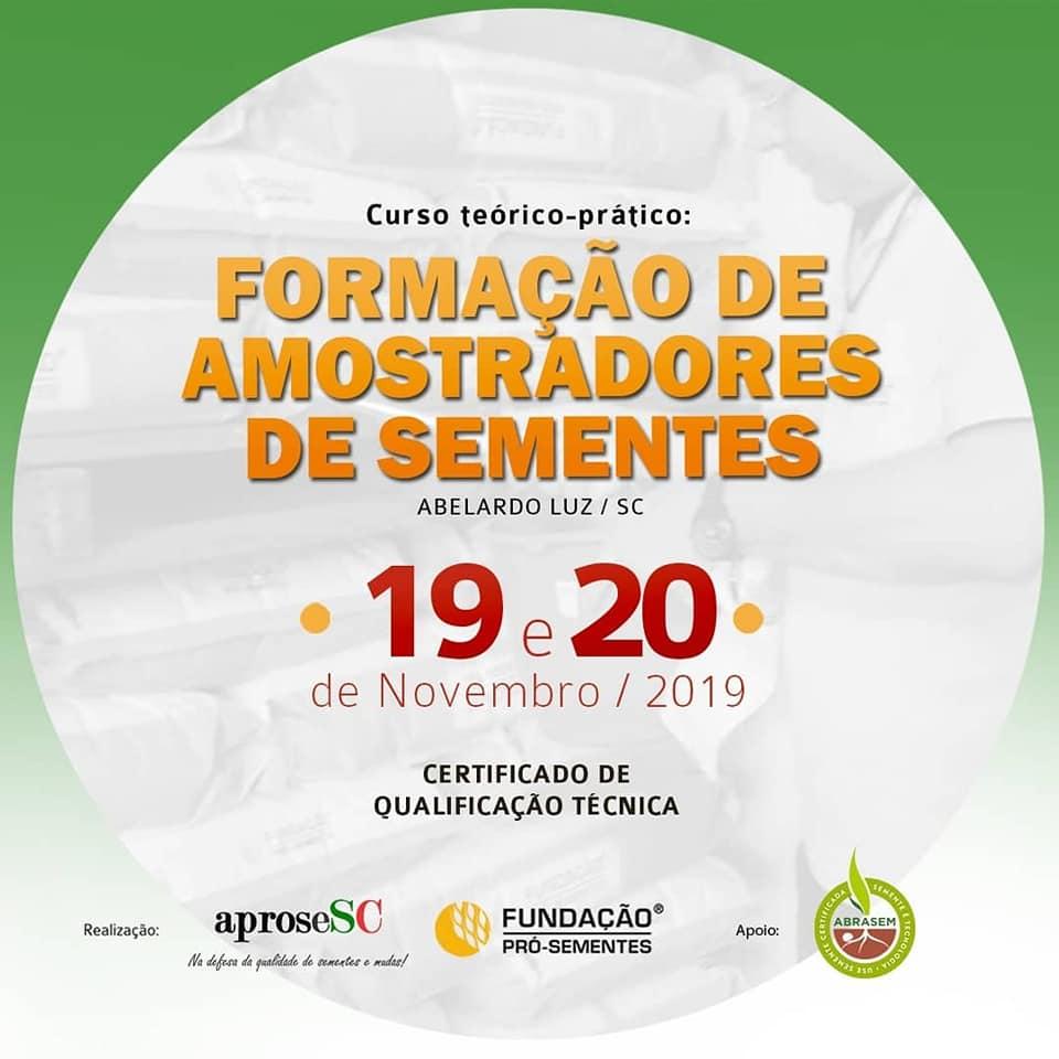 FORMAÇÃO DE AMOSTRADORES DE SEMENTES