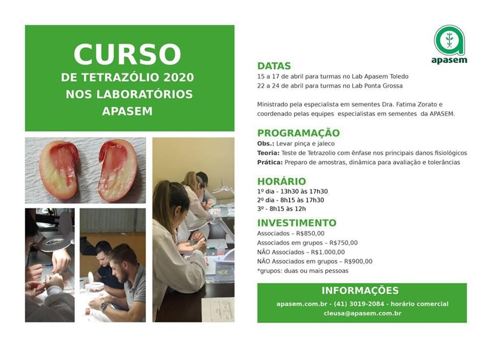CURSOS TETRAZÓLIO 2020 – APASEM
